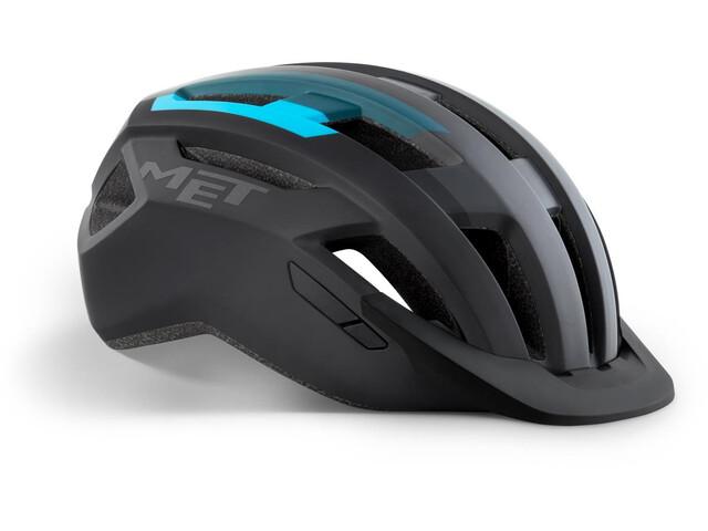 MET Allroad Helmet black/cyan matte